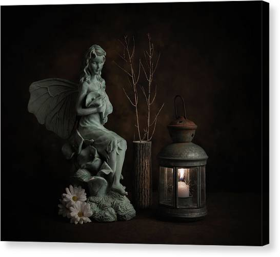 Fairy Canvas Print - Fairy With Lilies by Tom Mc Nemar