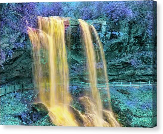 Art Movements Canvas Print - Fairyland Falls 2 by John M Bailey