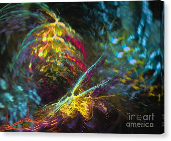 Canvas Print featuring the digital art Fairy's Rhapsody by Sipo Liimatainen