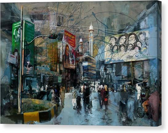 Polo Canvas Print - Faisalabad 1b by Maryam Mughal