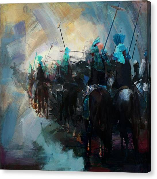 Polo Canvas Print - Faisalabad 3b by Maryam Mughal