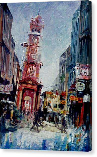 Polo Canvas Print - Faisalabad 6b by Maryam Mughal