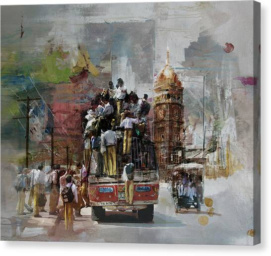 Polo Canvas Print - Faisalabad 9 by Maryam Mughal