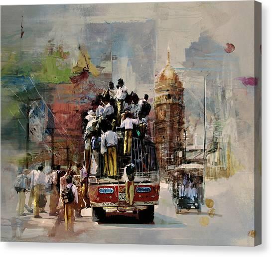 Polo Canvas Print - Faisalabad 9b by Maryam Mughal