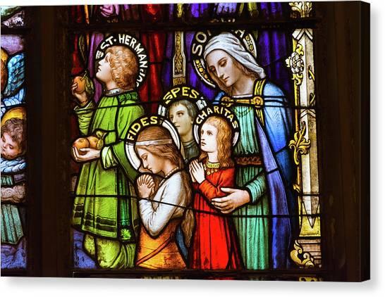Faith, Hope, And Charity Canvas Print