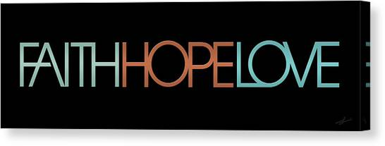 Faith-hope-love 2 Canvas Print