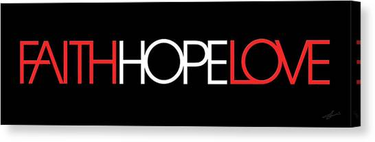 Faith-hope-love 3 Canvas Print