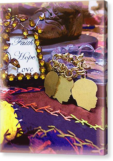 Faith Hope Love 4 Canvas Print