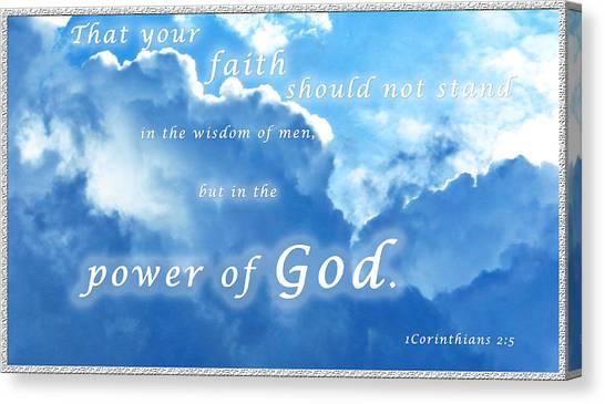 Faith In God's Power Canvas Print