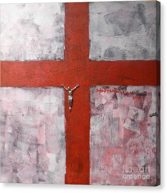 Faith In The Cross Canvas Print by Stephen Folaranmi
