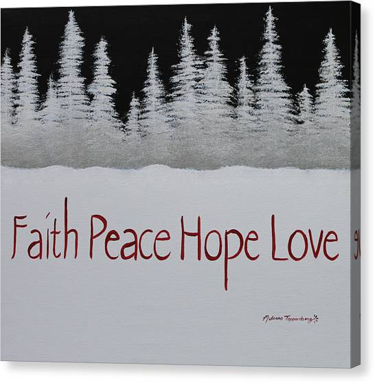 Faith, Peace, Hope, Love Canvas Print