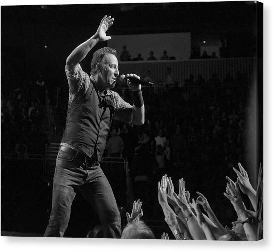 Bruce Springsteen Canvas Print - Faith Will Be Rewarded by Jeff Ross
