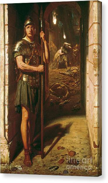 The Legion Canvas Print - Faithful Unto Death by Sir Edward John Poynter