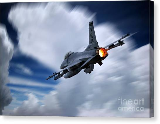F16 Canvas Print - Falcon Burner by J Biggadike