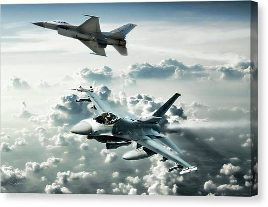 F16 Canvas Print - Falcon Element by Peter Chilelli