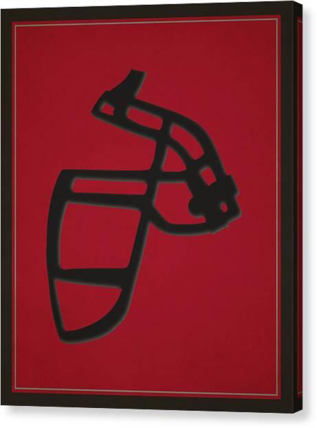 Atlanta Falcons Canvas Print - Falcons Face Mask by Joe Hamilton