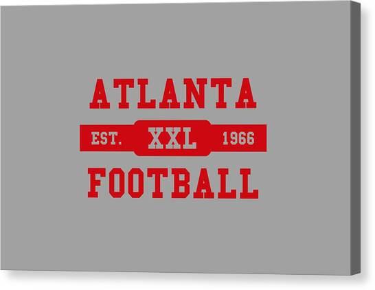 Atlanta Falcons Canvas Print - Falcons Retro Shirt by Joe Hamilton