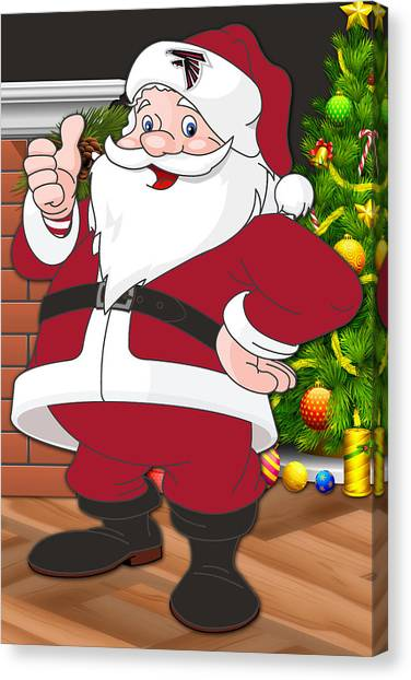 Atlanta Falcons Canvas Print - Falcons Santa Claus by Joe Hamilton