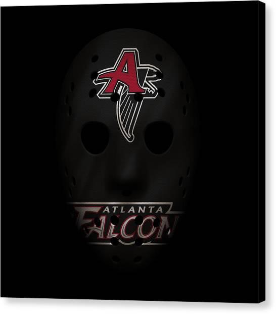 Atlanta Falcons Canvas Print - Falcons War Mask 2 by Joe Hamilton