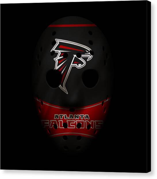 Atlanta Falcons Canvas Print - Falcons War Mask 3 by Joe Hamilton