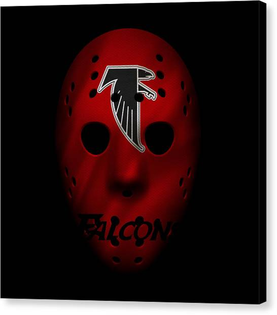 Atlanta Falcons Canvas Print - Falcons War Mask 4 by Joe Hamilton