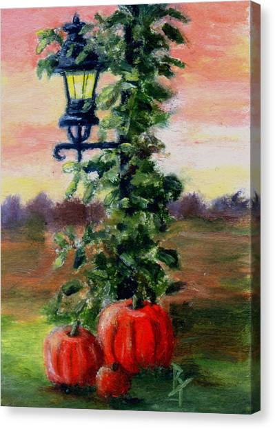 Fall Aceo Canvas Print by Brenda Thour
