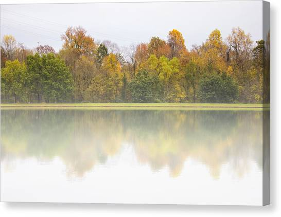 Fall And Fog Canvas Print
