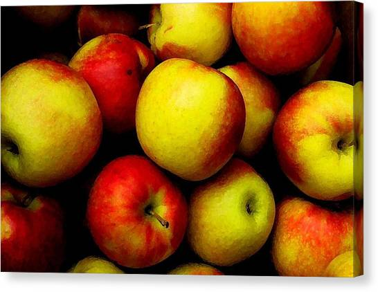 Fall Apples Canvas Print by Dennis Curry