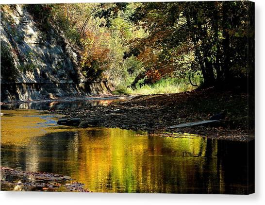 Fall At Big Creek Canvas Print