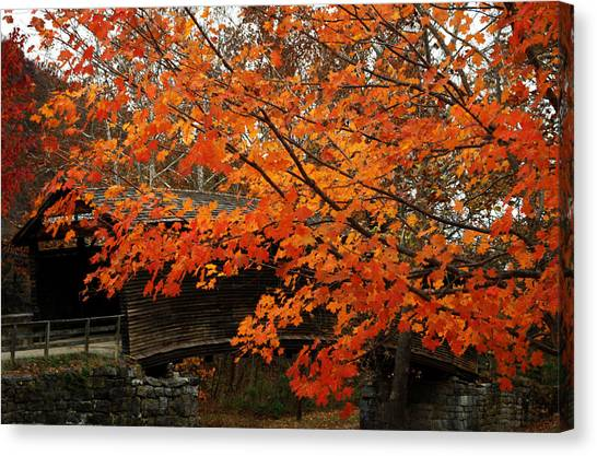 Fall At Humpback Bridge Canvas Print