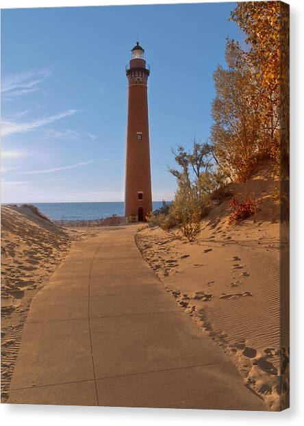 Fall At Little Point Sable Light Canvas Print