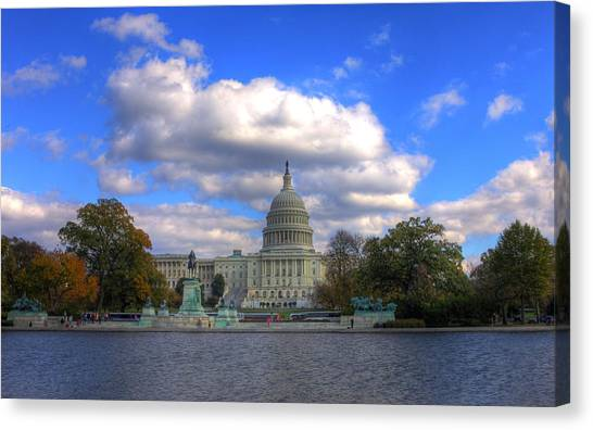 Washington Capitals Canvas Print - Fall At The Capital Building by Brian Governale