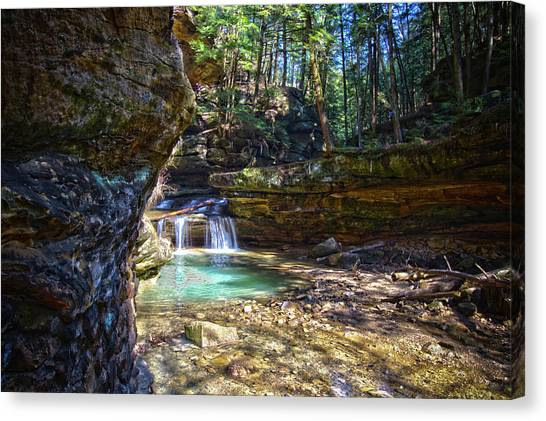 Fall Below Old Mans Cave Canvas Print