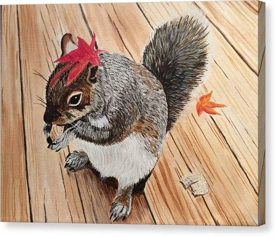 Fall Bonnet Canvas Print