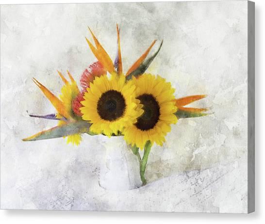 Canvas Print featuring the digital art Fall Bouquet by Sue Collura