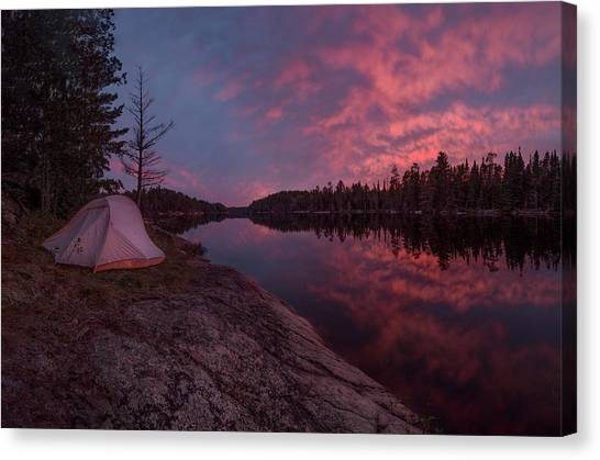 Fall Camping // Bwca, Minnesota  Canvas Print