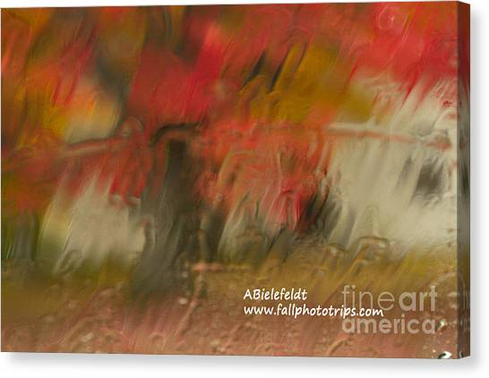 Canvas Print - Fall Colors In The Rain by April Bielefeldt