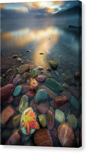 Fall Colors // Lake Mcdonald, Glacier National Park  Canvas Print