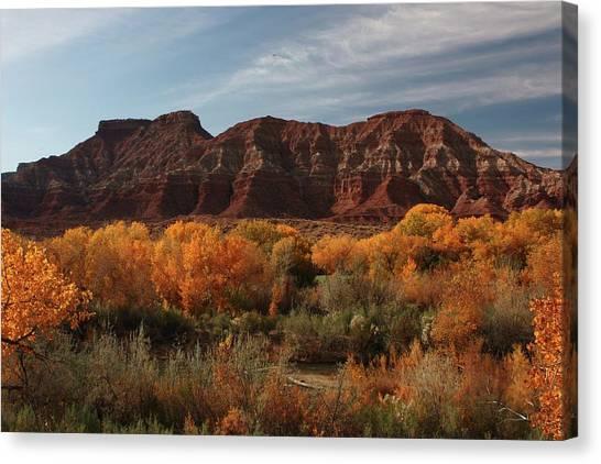 Fall Colors Near Zion Canvas Print