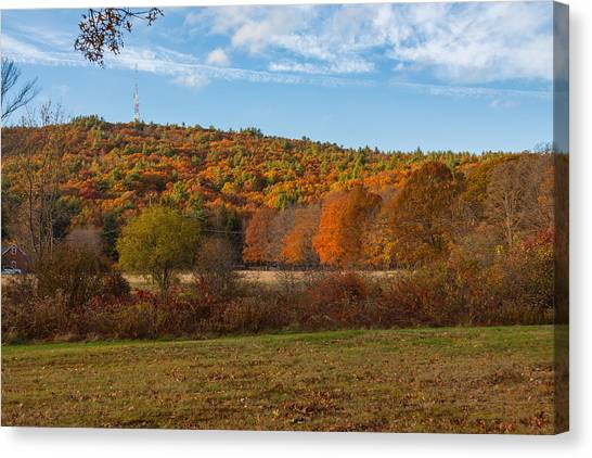 Fall Colors On Great Blue Hill Canvas Print