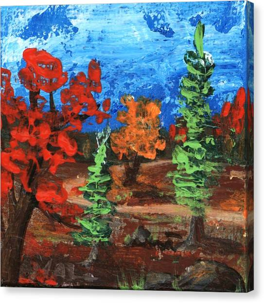 Canvas Print featuring the painting Fall Colours #1 by Anastasiya Malakhova