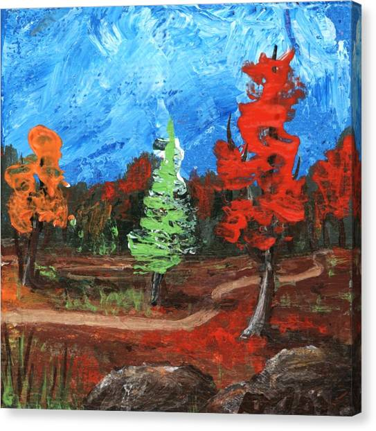 Canvas Print featuring the painting Fall Colours #2 by Anastasiya Malakhova