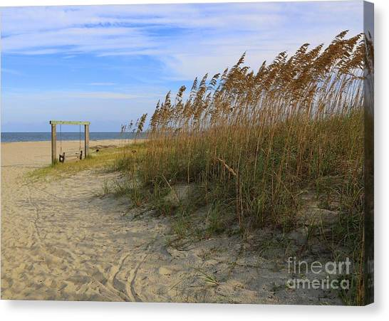 Fall Day On Tybee Island Canvas Print
