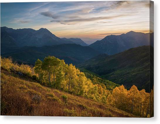 Fall Evening In American Fork Canyon Canvas Print