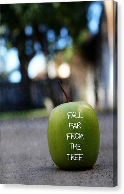 Apple Tree Canvas Print - Fall Far From The Tree- Art By Linda Woods by Linda Woods