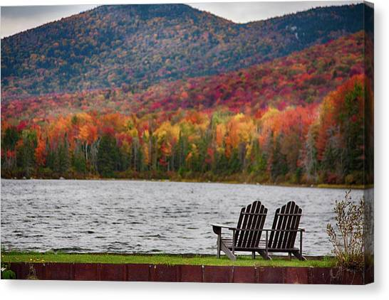 Fall Foliage At Noyes Pond Canvas Print