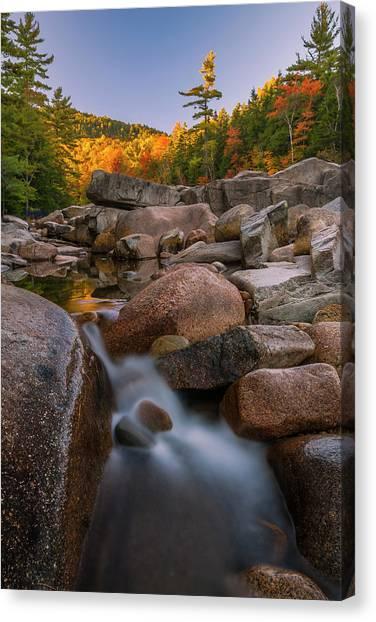 Fall Foliage In New Hampshire Swift River Canvas Print