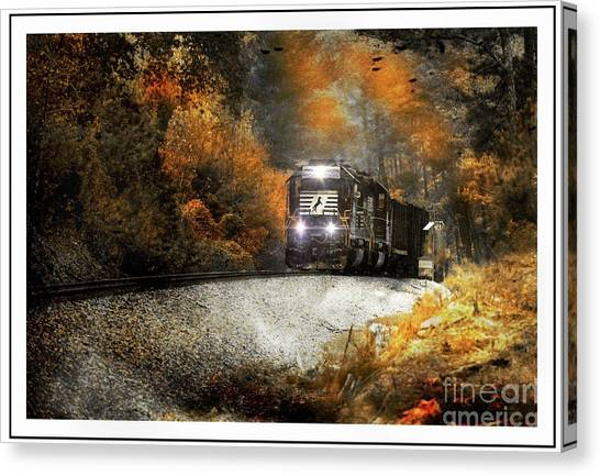 Fall Freight Canvas Print