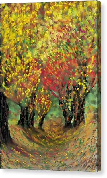 Fall Impression Canvas Print by Harry Dusenberg