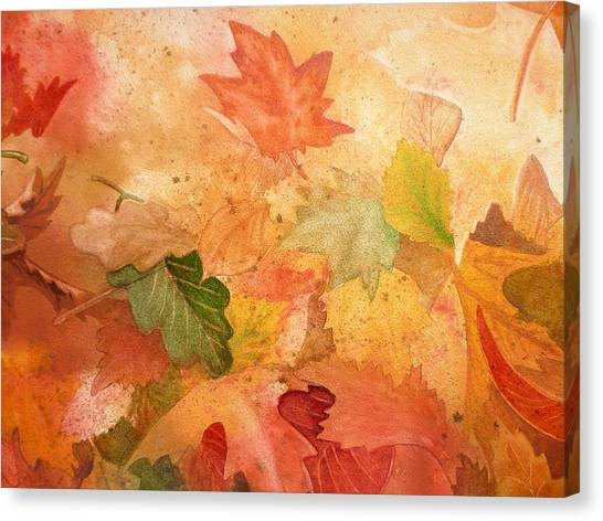 Maple Leaf Art Canvas Print - Fall Impressions Iv by Irina Sztukowski